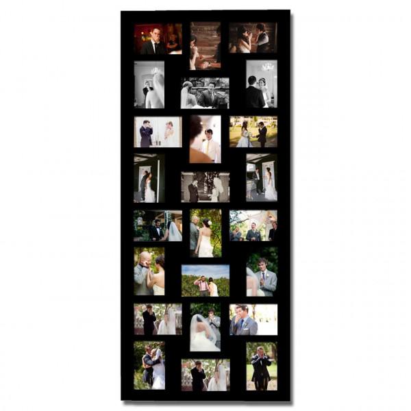Bildrahmen Holz für 24 Bilder