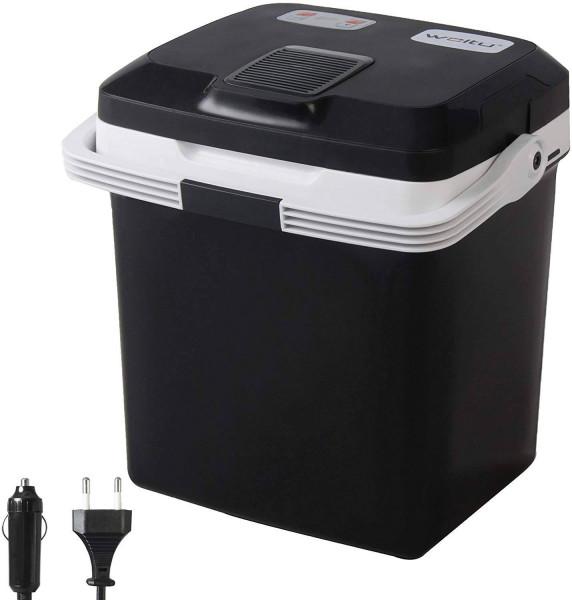 Kühlbox & Warmhaltebox für Auto & Camping 26L A++ schwarz
