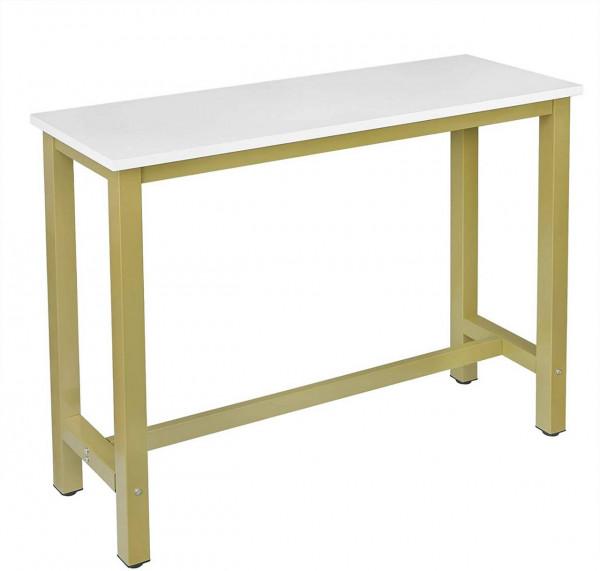 Moderner Bartisch Modell Ulla, gold-weiss 1