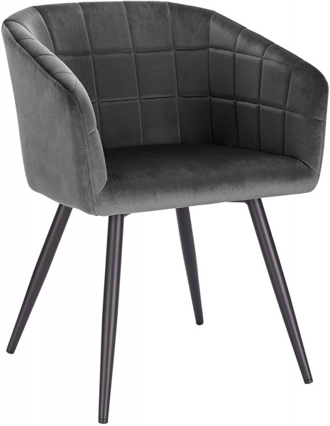 Velvet & metal dining chair - Annika model