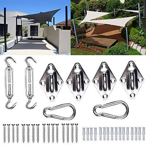 Sun Shade Sail Fixing Kit Heavy Duty Stainless Steel Hardware Accessories Kit