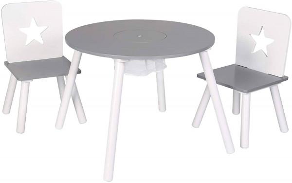 Kindersitzgruppe Tisch-Set mit Stauraum aus Kiefernholz