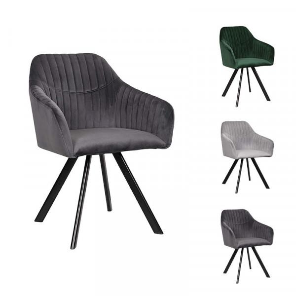 Velvet dining chair - Model Atja