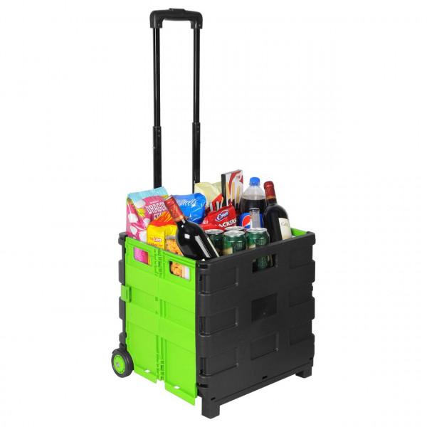 Einkaufstrolley Einkaufswagen gross Grün