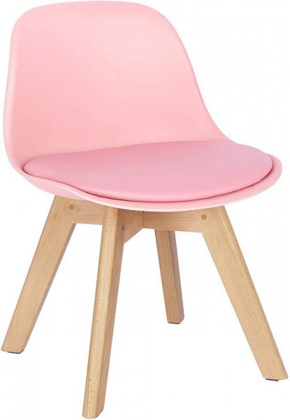 Kinderstuhl mit Holzbeinen und Rückenlehne Sitzhöhe 33 cm für Kinderzimmer