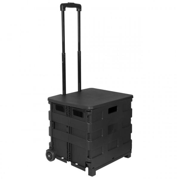 Einkaufstrolley Einkaufswagen mit Deckel Schwarz