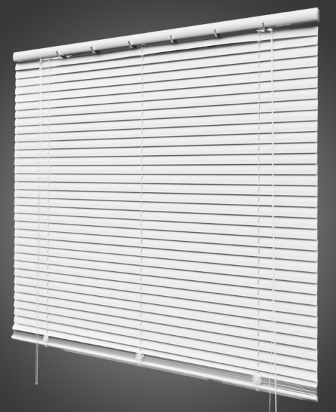 Jalousie Aluminium lichtdurchlässig Weiß B 120 cm x L 180 cm