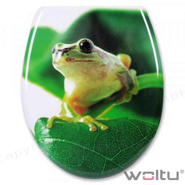 WC-Sitz Duroplast Frosch mit Absenkautomatik