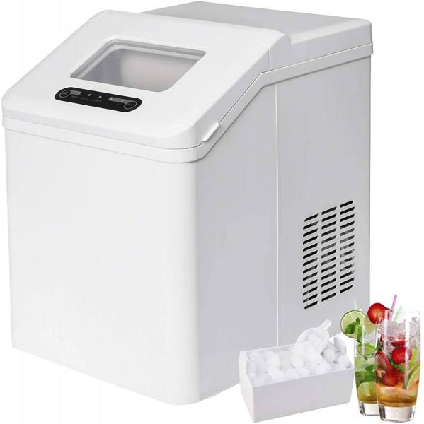 Eiswürfelmaschine 2,5 Liter Wassertank Selbstreinigungsmodus 20kg 24h weiß