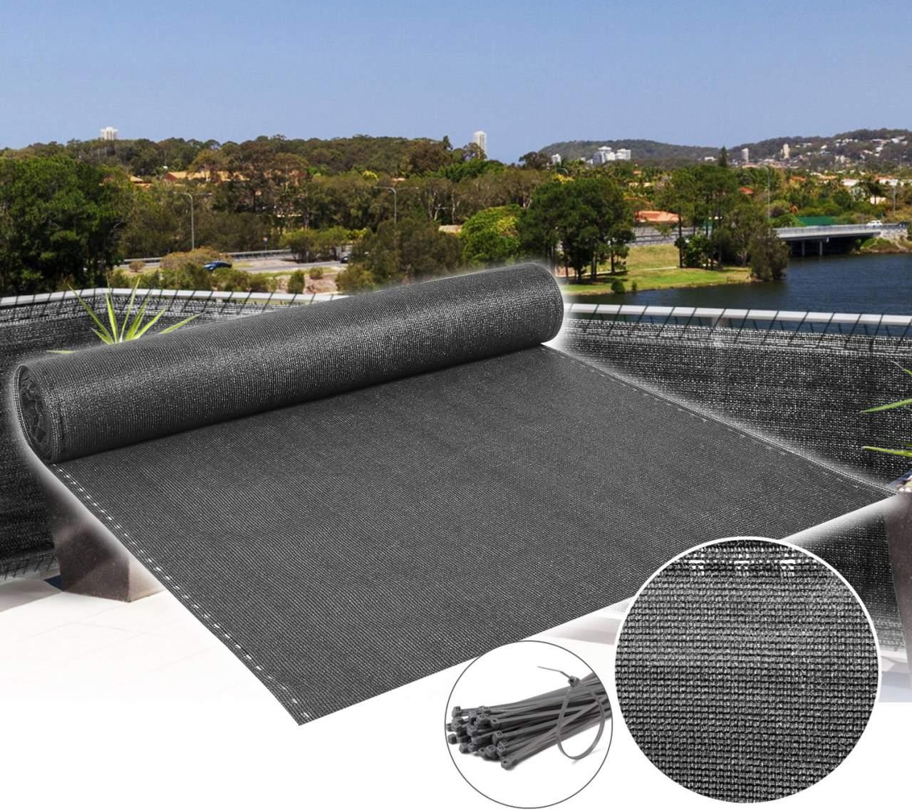 Zaunblende Tennisblende Sichtschutz Zaun Netz Dunkelgrün Gewebe Windschutz HDPE