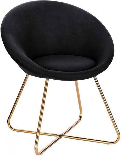 Küchenstuhl aus Stoffbezug & Metallbeine - Modell Hanna, anthrazit