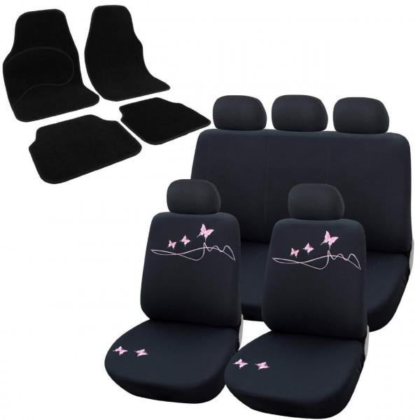 Sitzbezug für PKW ohne Seitenairbag, mit Fußmatten Set AS7304_7135