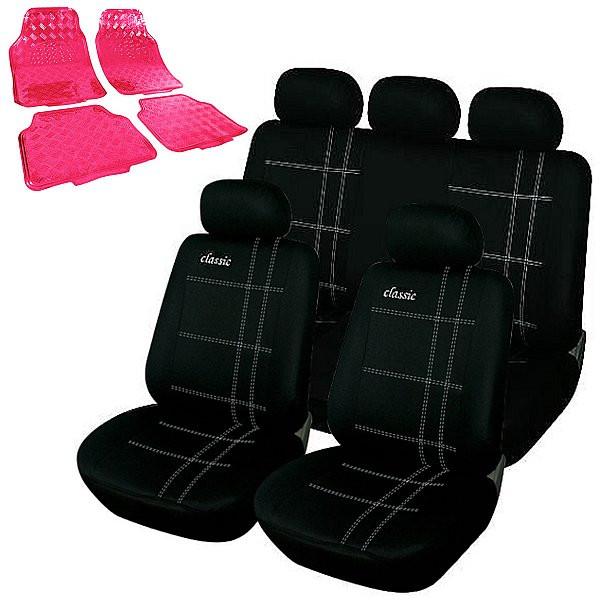 Auto Sitzbezug + Fußmatten pink
