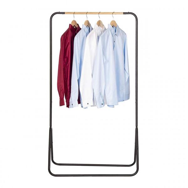 Kleiderständer aus Metall 79x43x145cm, schwarz vorne