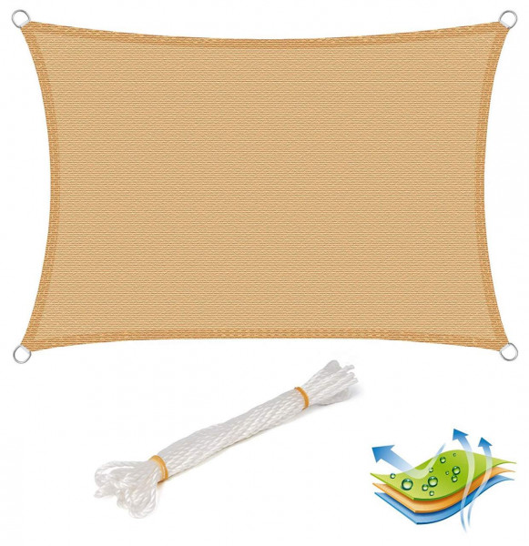 Sonnensegel Sonnenschutz HDPE Windschutz UV Schutz Sand