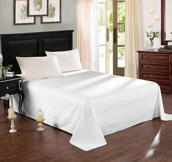 Tagesdecke 100% Baumwolle Weiß