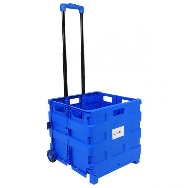 Einkaufswagen ohne Deckel gross Blau