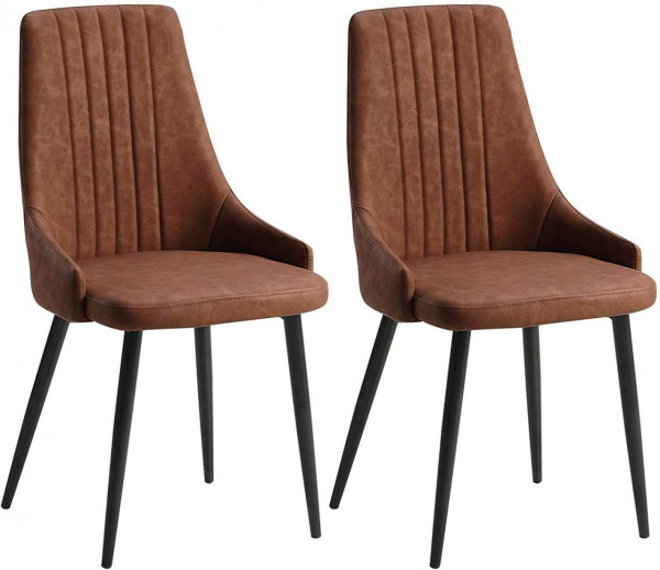 2 pieces faux leather dining chairs - Model Ava