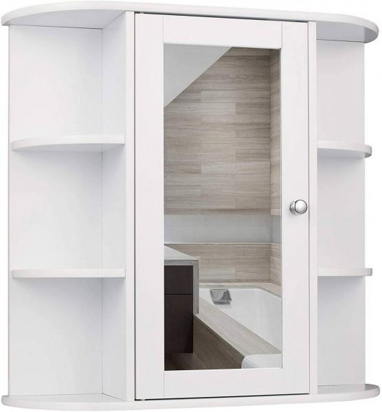 Spiegelschrank aus Holz mit Ablage,Weiß