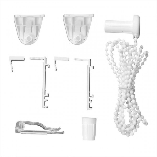 Klemmfix clamp holder bracket set incl. 3M adhesive pads, accessory set for roller blinds assembly without drilling