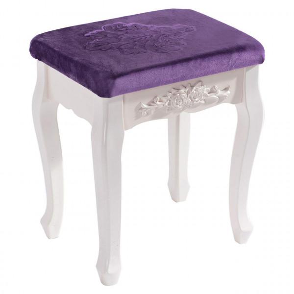 Schminkhocker Sitzhocker Violett