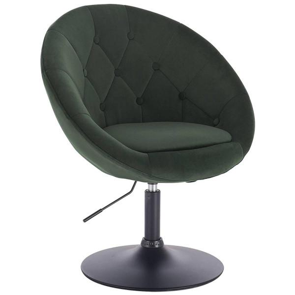 Loungesessel mit Armlehne aus Samt - Modell Timo
