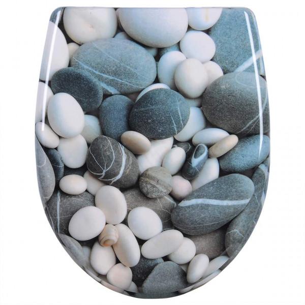 WC-Sitz Duroplast Steinchen mit Absenkautomatik