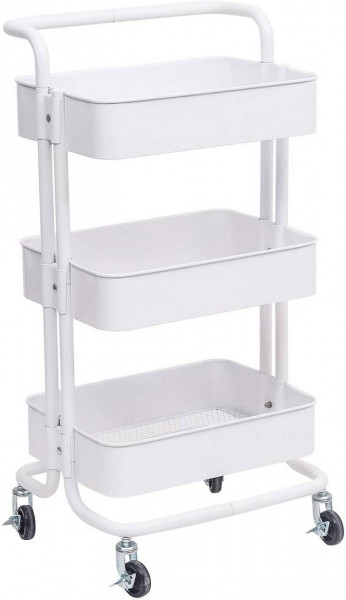 Kitchen trolley with metal handle for kitchen