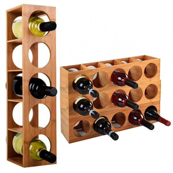 Bamboo wine rack, model Antonio