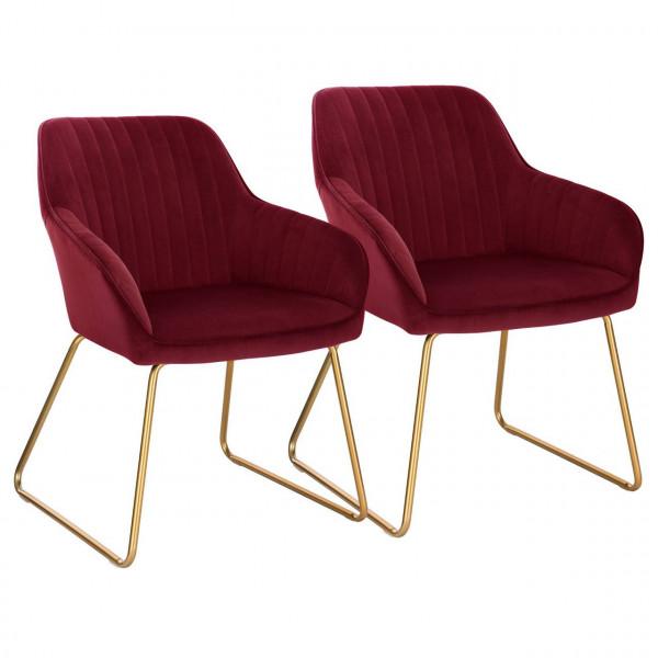 Set of 2 velvet dining chairs - model Kerstin