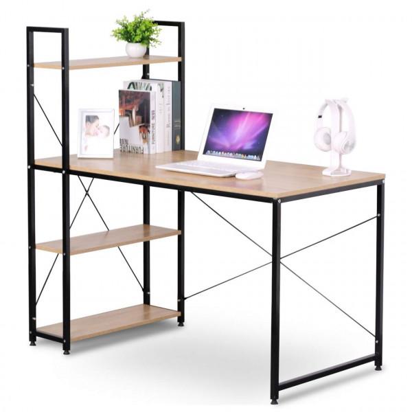 Computer Desk 4 Shelves for Home Office
