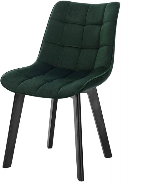Velvet and wooden legs dining chair - Herta model