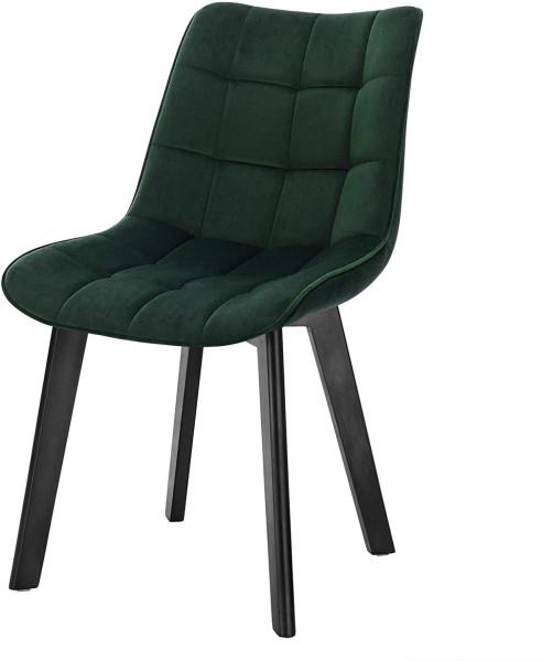 Esszimmerstuhl aus Samt & Massivholz Modell Herta