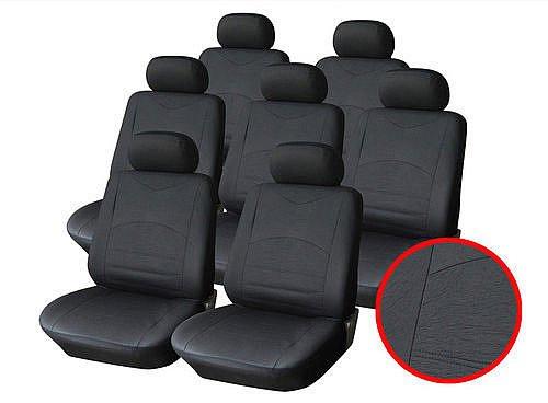 Auto Sitzbezüge Schwarz (7er Set)