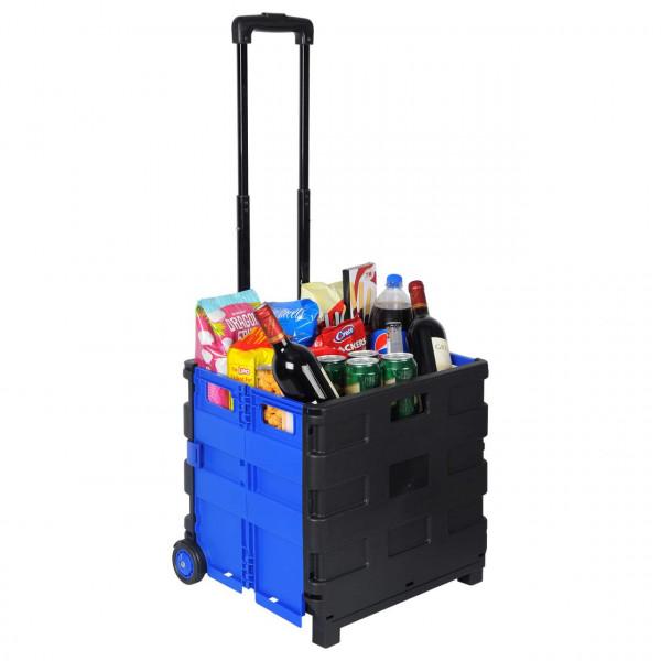 Einkaufstrolley Einkaufswagen gross Blau