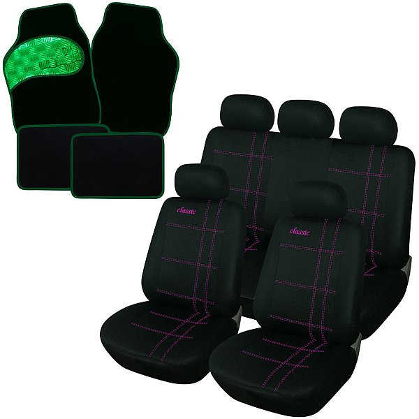 Auto Sitzbezüge + Fußmatte Classic