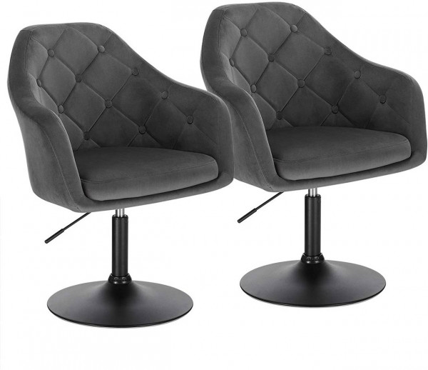 Bar chair with armrest and backrest made of velvet & metal - model Aria