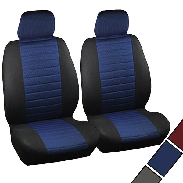Set of 2 seat covers made of polyester for cars
