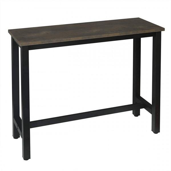 Bartisch Metallgestell Tischplatte aus MDF, schwarz-rostfarbe