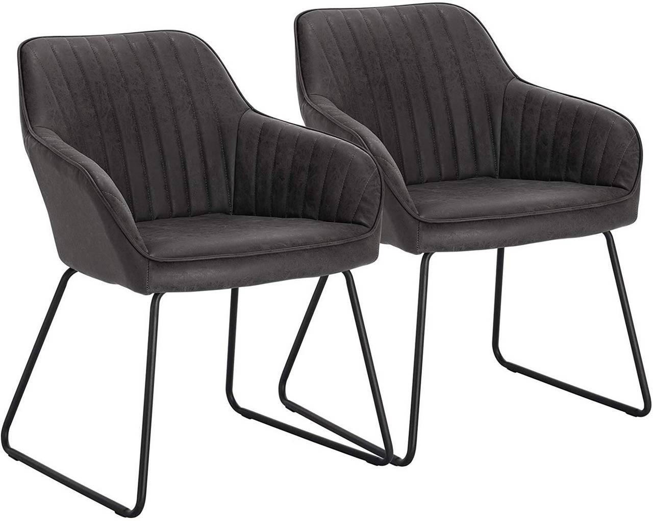 EsszimmerstHle Mit Armlehne Kunstleder  Shinawood Esszimmerstuhle 2er Set Beige Modern Sessel ...