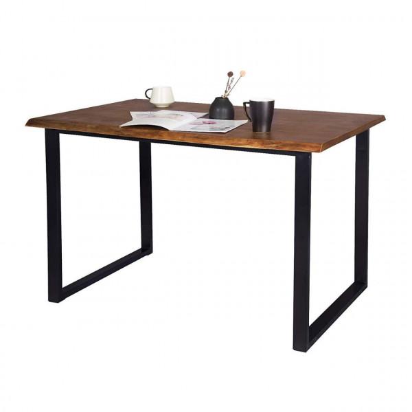 Esszimmertisch aus Holz & Metall in Eiche BT19ei