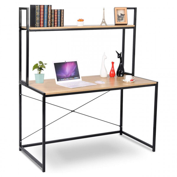 Desk with shelf in a practical design