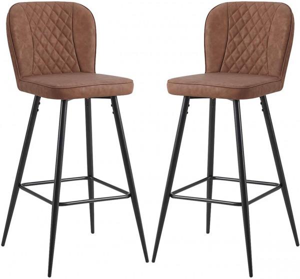 Set of 2 bar stools with backrest model Samsa