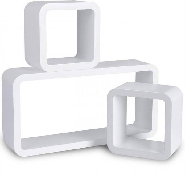 3er-Set Wandregal Lounge Cube weiß