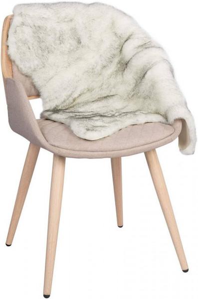 Faux Lammfell Schaffell Teppich 60x90cm, weiß-grau