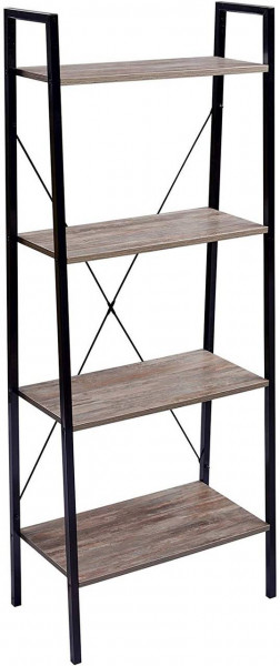 Standregal Haushaltsregal Holz Stahl, dunkelbuche