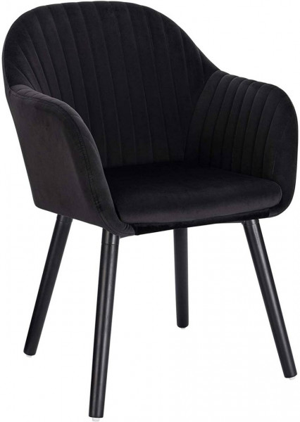 Velvet & metal dining chair - Annika model