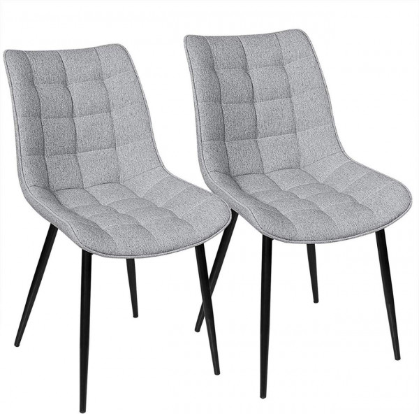 2 pieces linen kitchen chairs - Model Elif