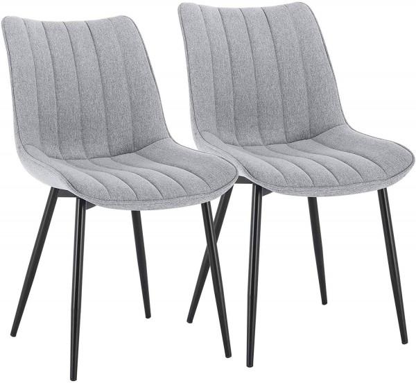 2er-Set Küchenstuhl aus Leinen - Modell Hanno