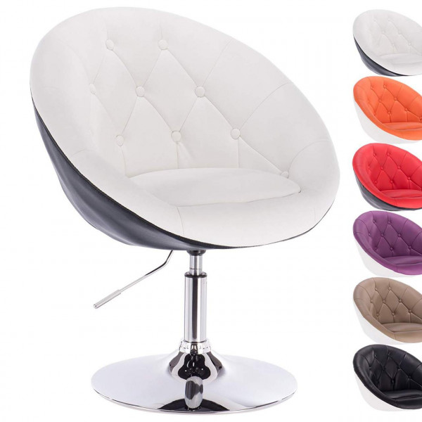 Bar chair with leatherette armrest - bicolored